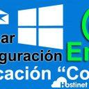 revisar configuración email aplicación correo win 10