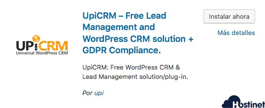 upicrm plugin para WordPress