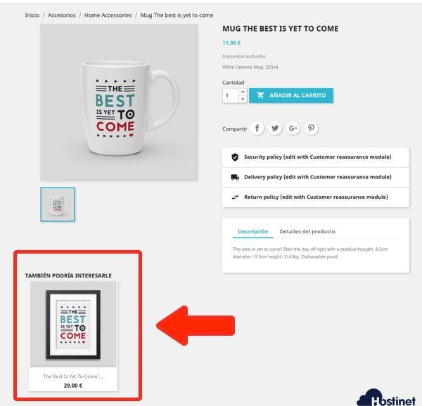 venta cruzada añadida producto prestashop para aumentar las ventas