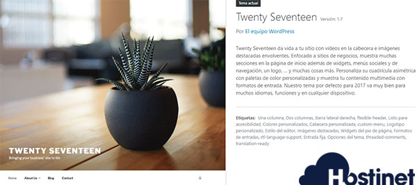 WordPress Twentyseventeen