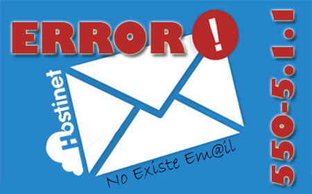 Error 550-5.1.1 No Existe Email