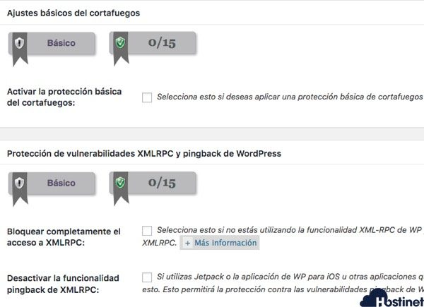 all in one security - cortafuegos - WordPress