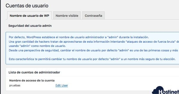 all in one security - cuentas usuarios - WordPress