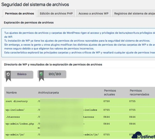all in one security - seguridad sistema archivos - WordPress