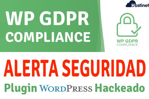 plugin wp gdpr compliance comprometido