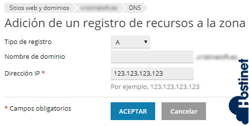 Cómo Agregar Nuevo Registro en Zona DNS (Plesk) 4