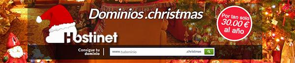 Dominios .Christmas ¡Por tan solo 30€ al año con Hostinet!