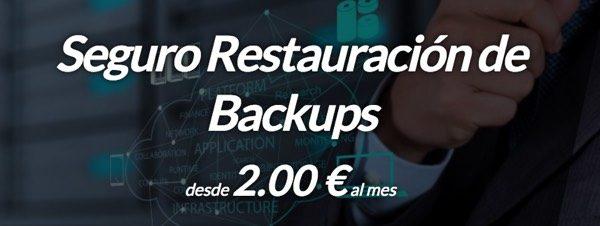 seguro restauracion backups Hostinet