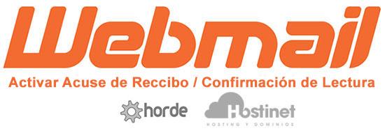 Activar Acuse de Recibo en Horde (Webmail)