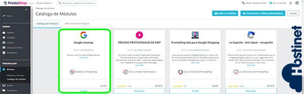 PrestaShop 1.7.5.0 Google Sitemap