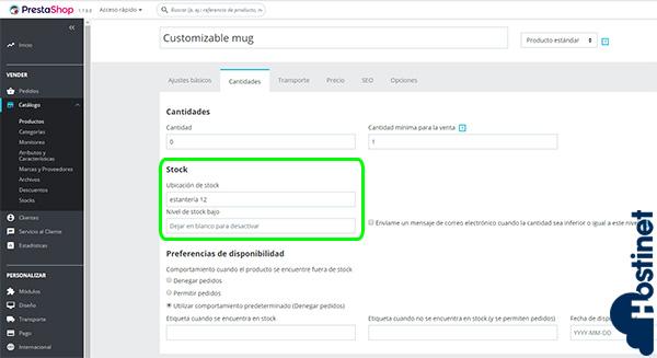 PrestaShop 1.7.5.0 Ubicación Stock