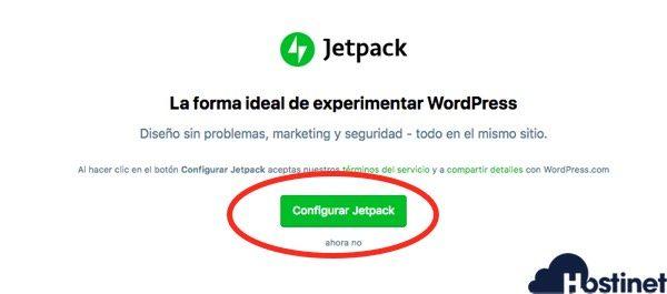 configurar jetpack para conectar con WooCommerce