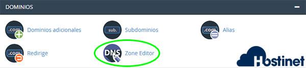 cPanel Zone editor