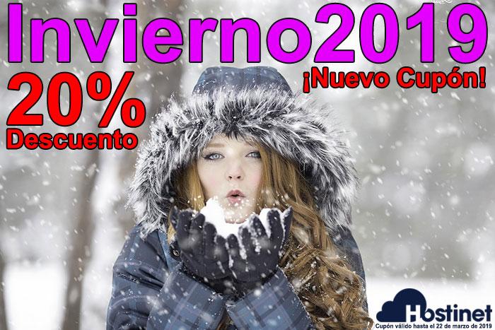 Invierno2019 Nuevo cupón ¡20% descuento!
