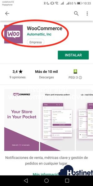 instalar app woocommerce movil