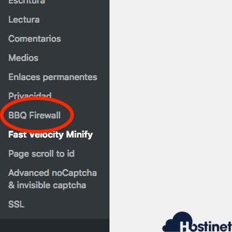 menu bbq firewall para WordPress