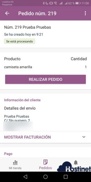 pedidos WooCommerce Mobile App