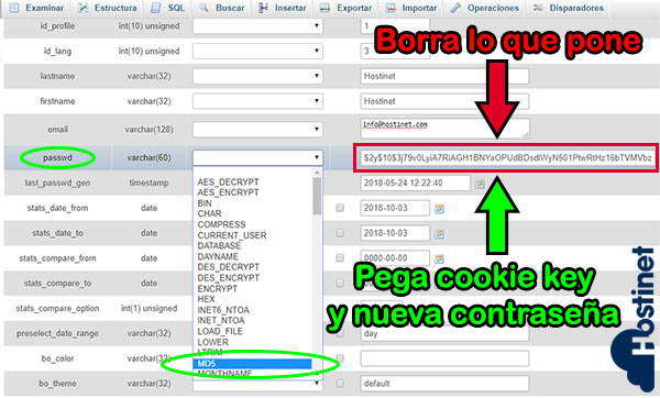 PS17 employee passwd md5 contraseña