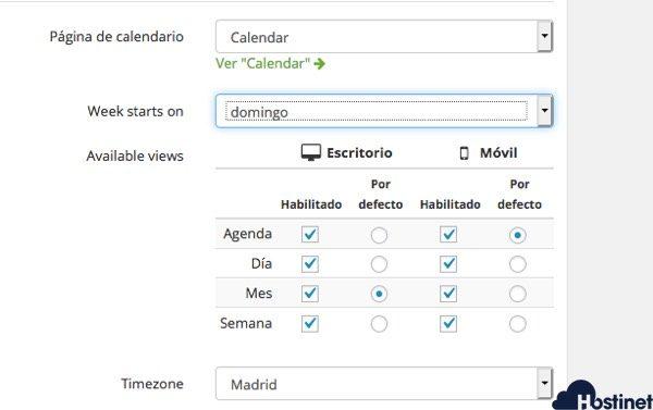 configuracion basica aio event calendar WordPress