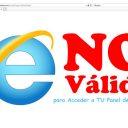 Internet Explorer: NO Válido para Acceder a TU Panel de Cliente