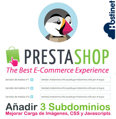 Añadir 3 Subdominios Adicionales en PrestaShop para Mejorar la Carga de Imágenes, CSS y Javascripts