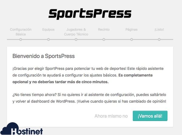 asistente sportspress WordPress