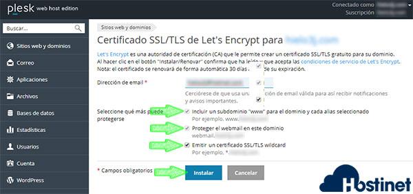 Plesk Lest's Encrypt Instalar para todo