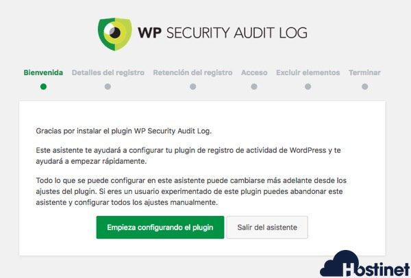 security audit configuracion asistente WordPress
