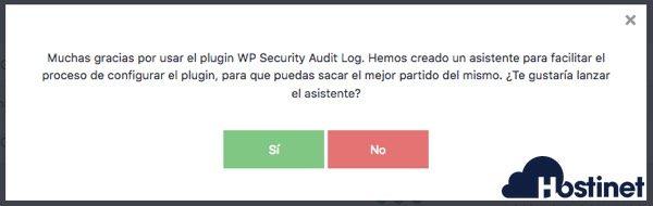 security audit log asistente WordPress