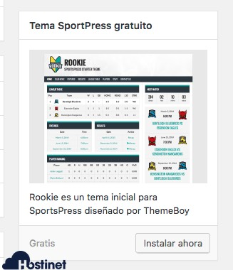 sportspress theme WordPress