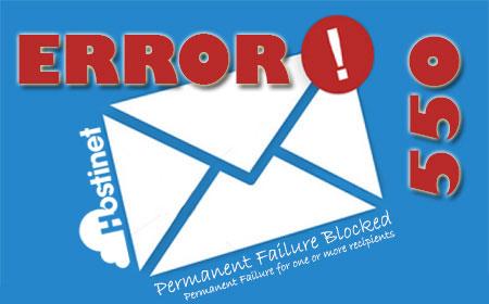 Error 550 Permanent Failure Blocked