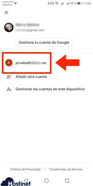 app gmail cuenta anadida Android
