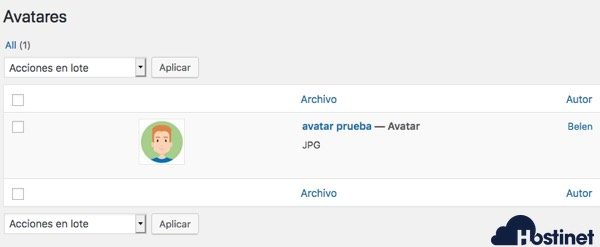 biblioteca avatares wp user avatar WordPress
