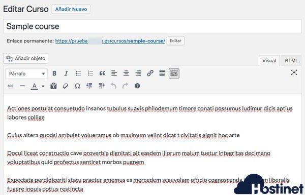 editar curso muestra learnpress WordPress