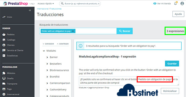 ps17 order with an obligation to pay 3 expresiones