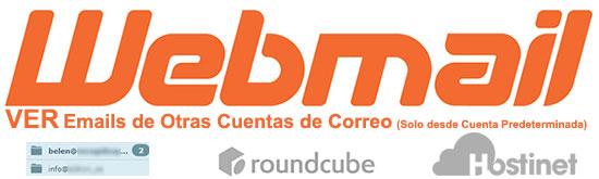 VER Emails de Otras Cuentas de Correo en Webmail con Roundcube (Solo desde Cuenta Predeterminada)