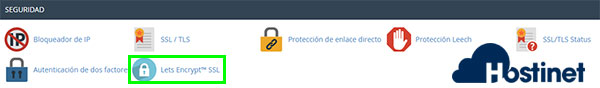 cpanel seguridad let's encryptssl
