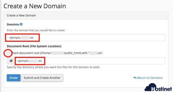 dominios cpanel crear subdominio - cPanel