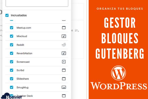 Gestor de Bloques para el Editor Gutenberg de WordPress