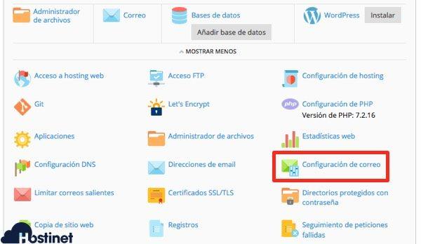icono configuracion de correo - DKIM