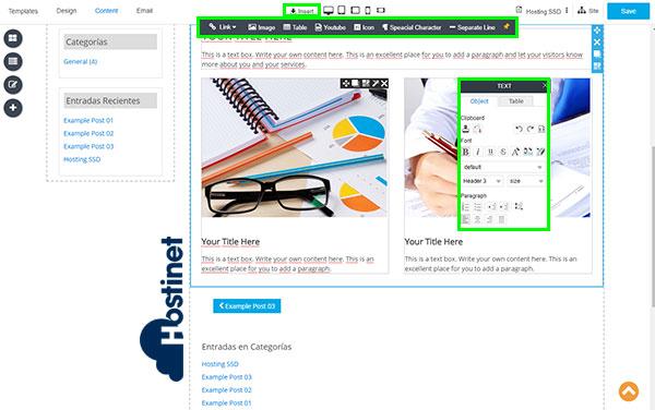 rvsitebuilder7 blog nueva entrada insert