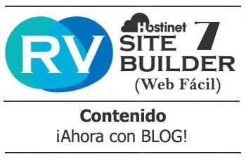 rvsitebuilder 7 contenido blog