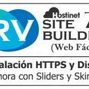 RVSiteBuilder 7 (Web Fácil) – Instalación HTTPS y Diseño