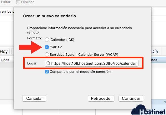 thunderbird configuracion caldav para sincronizar con calendario cPanel