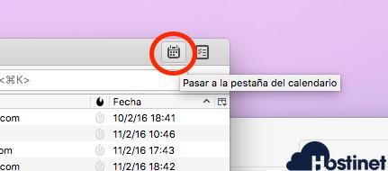 thunderbird pestana calendario en tu ordenador