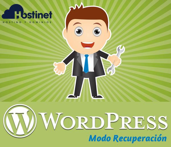 Cómo Utilizar el Modo Recuperación en WordPress 5.2
