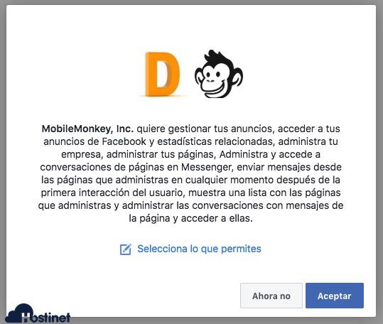 wp-chatbot permiso facebook