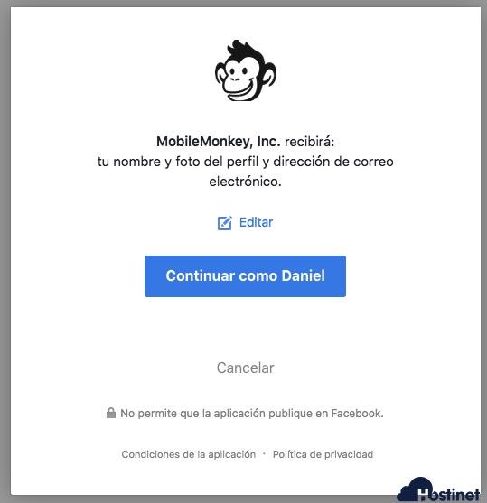 wp-chatbot permiso mobilemonkey  en WordPress