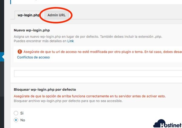wp hide acceso administrador WordPress