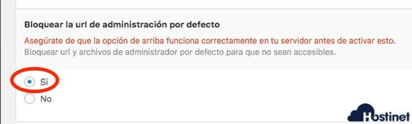 wp hide bloquear acceso url defecto WordPress